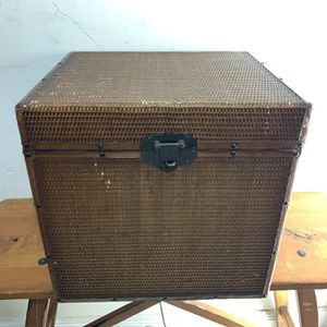 Wood Wicker Container Storage Box Decoration for Sale in Miami, FL