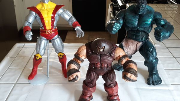 Heavy collectible action figures.