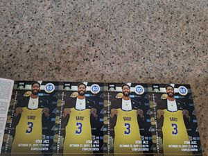 Lakers Season Tickets 4 Seats in Section 321 Row 6 - Prices Vary PLEASE CLICK ON THE SEE MORE BUTTON TO SEE THE GAMES AND PRICES for Sale in Arcadia, CA