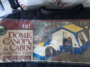 4 in 1 DOME CANOPY AND CABIN CONNECTION TENT for Sale in Centralia, WA