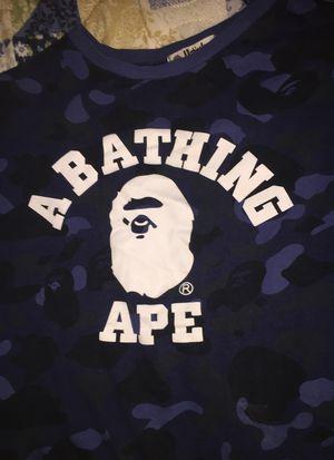 Bape Blue Camo Shirt L for Sale in New Kensington, PA