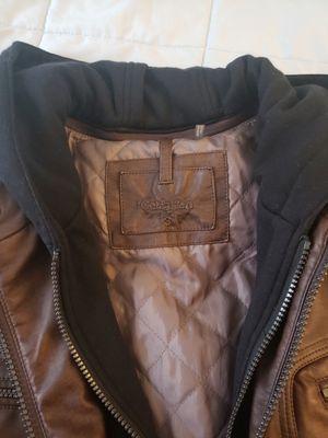 Calvin Klein, Men's Leather Moto Jacket Size Small for Sale in Arlington, VA