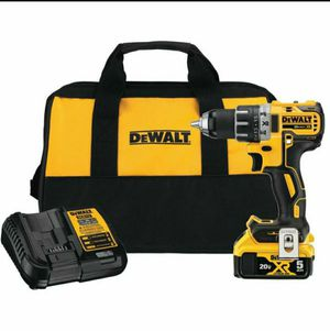Dewalt 20-Volt MAX XR Lithium-Ion Brushless Cordless 1/2 in. Drill/Driver with 5 Ah Battery, Charger and Tool Bag for Sale in Stickney, IL