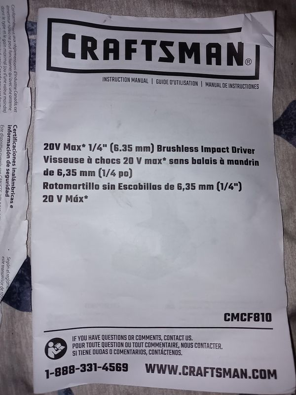 Craftman drill and impact