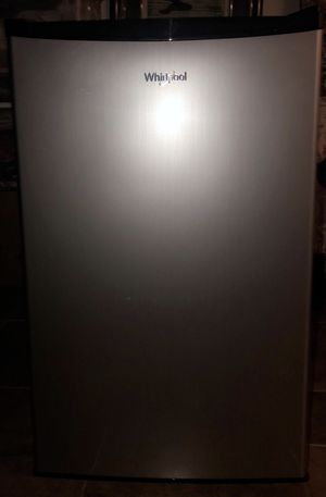 Whirlpool 4.3 cu ft Mini Refrigerator Stainless Steel for Sale in St. Louis, MO