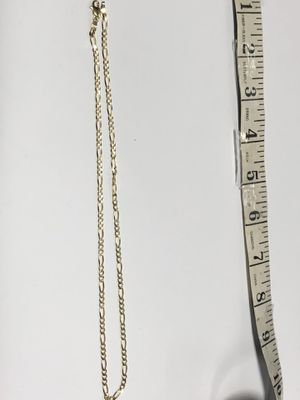 """14k Figaro Link Gold Chain 6.5 Grams 18"""" for Sale in Los Angeles, CA"""