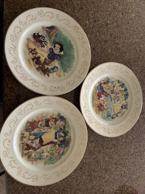 3 Disney/Lenox Snow White dessert plates for Sale in Spring House, PA
