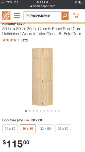 Kimberly Bay Bi-Fold Closet Door for Sale in East Cleveland, OH