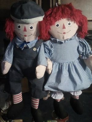 Raggedy Ann and Andy stuffed dolls for Sale in Perris, CA