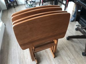 """Modern TV TABLES. Solid Maple /w storage stand. 25"""" tall, 14.5 """" wide, 22"""" long. for Sale in Portland, OR"""
