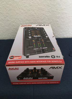 Akai professional AMX 2 Mixing control of serato Dj pro, plus case for Sale in Naples, FL