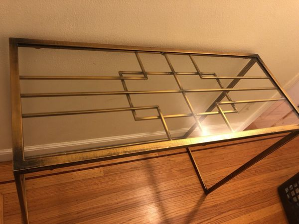 BEAUTIFUL GOLD CONSOLE TABLE
