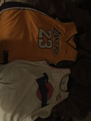 Lebron jersey and Bugs bunny space jam jersey. for Sale in Washington, DC