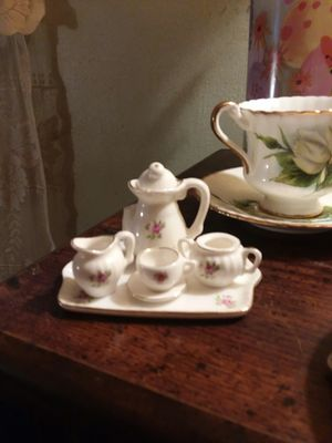 Mini china sets tea party antique brand new in box for Sale in Springfield, OH