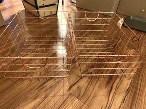Copper/ rose gold baskets/ bins for Sale in Concord, CA
