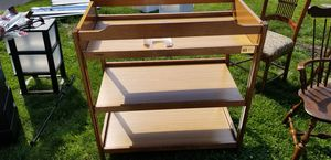 Changing Table solid wood. for Sale in Dearborn, MI