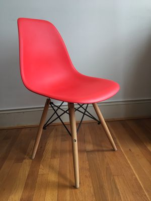 Eames style red chair for Sale in Alexandria, VA