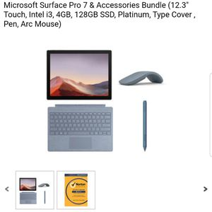 Surface pro 7 with accessories. Pen, keyboard and arc mouse for Sale in Queen Creek, AZ