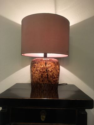 Tortoise glass base table lamp for Sale in Los Angeles, CA