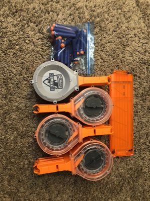 Nerf gun magazines with extra bullets for Sale in Phoenix, AZ