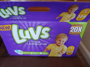 Luvs size 5 and 6 diapers for Sale in Sterling Heights, MI