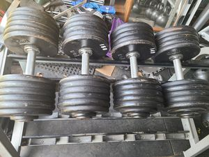 Pro-Style Dumbbells 150lb and 140lb for Sale in Santa Ana, CA
