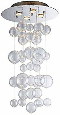 Saint Mossi Modern Glass Raindrop Chandelier LED