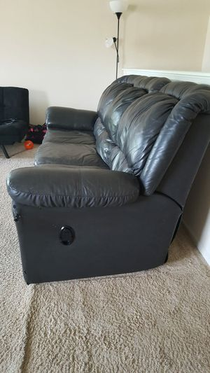 Faux leather recliner sofa for Sale in Dublin, OH
