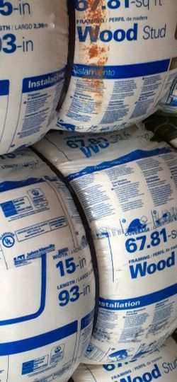 Insulation for Walls 2x4 R15x15 Cover 70 Square feet Each Bag The Price Is For Each Unface Sound Proof Insulation for Sale in Corona,  CA
