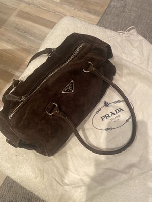Prada Chocolate Brown Suede Bag for Sale in Los Angeles, CA