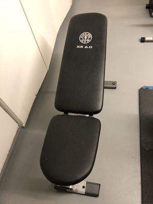 Workout bench and curl bar for Sale in Mission Viejo, CA