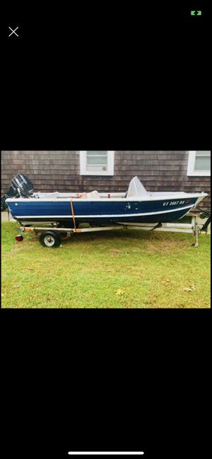 Aluminum runabout 25hp Mercury w/ trailer for Sale in North Kingstown, RI