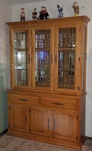 Oak China Hutch for Sale in Gresham, OR