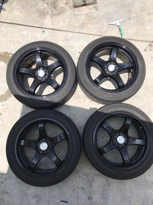 GTR racing wheels 17' for Sale in Rancho Cucamonga, CA