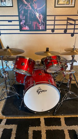Gretsch Maple Drum Set with AA Studio Cymbals for Sale in Fresno, CA