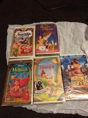 5 v h s Walt's Disney tapes for Sale in North Las Vegas, NV