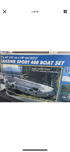Intex The Sport Set Seahawk Sport 400 2-Person Inflatable Boat Set for Sale in Opa-locka, FL