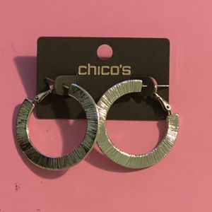 Chico's Thick Hoop Earrings for Sale in College Park, MD
