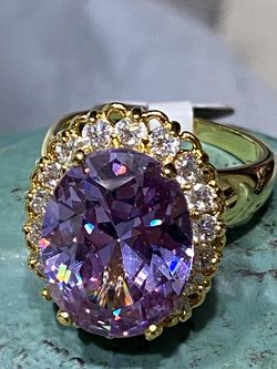 18k Gold Filled CZ Amethyst Ring Size 7,8 for Sale in Nashville,  TN