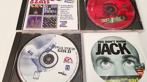 PC Games Win 95 101 Games+You Don't Know Jack+Test Drive+PGA Tour Gold for Sale in Parma, OH