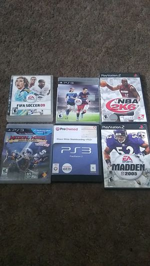 Ps3 and ps2 games fifa, Madden + for Sale in Corona, CA