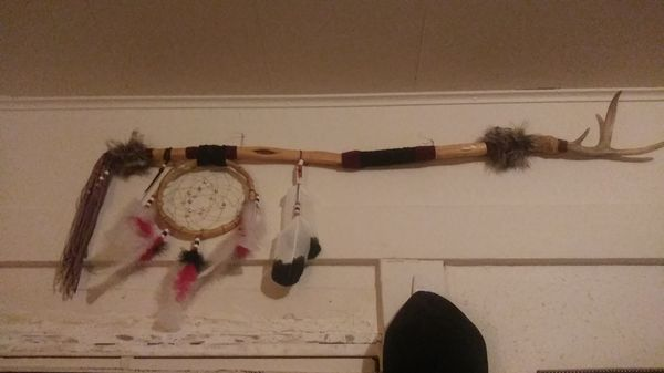 Native American dancing stick