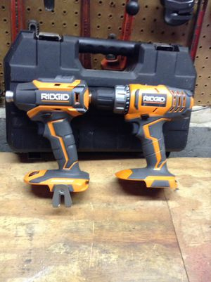 Ridgid 18 V impact and drill 5x for Sale in Columbus, OH