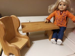 Table and two chairs for Our Generation or American Girl 18 inch doll. Doll not included. PRICE REDUCED. for Sale in Largo, FL