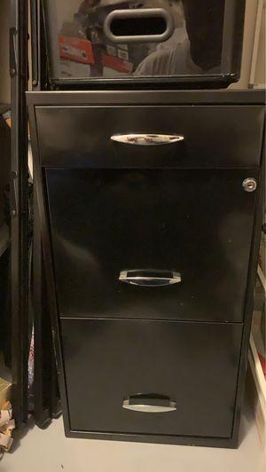 Black File cabinet for Sale in Atlanta, GA