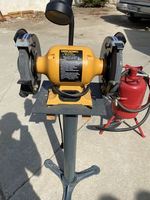 """8"""" Bench Grinder with Optional Heavy Stand for Sale in Carlsbad, CA"""