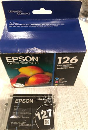 Epson printer ink color and black 126/127 for Sale in Waxhaw, NC