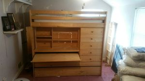 Bunk bed with desk and drawers for Sale in Silver Spring, MD