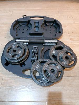 Dumbbell Set w/ Case (40 lbs. + Adjustable) for Sale in Hoboken, NJ