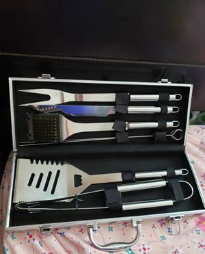 Stainless Steel BBQ Grill 6-Piece Tool Set for Sale in Louisville, KY